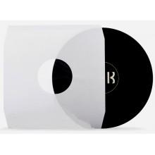 "Buste interne 12""LP BIANCO NEVE, FODERATE carta 90gr, angoli Cut (Conf.25)"