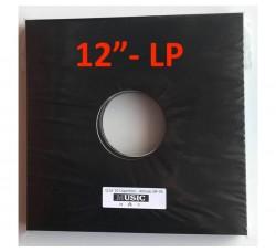 """Copertine per LP-12"""" colore nera con due fori (Conf.10 pezzi)"""
