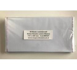 MUSIC MAT - Buste commerciali senza finestra - 110x220 mm (Qtà.50)