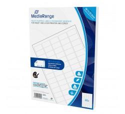 MEDIARANGE - Etichette multiuso adesive 38.2x21.2 mm Colore Bianco (Qtà.3250 pezzi)