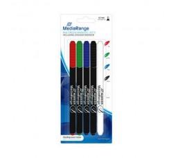 MEDIARANGE - 4 Pennarelli Marcatori per CD - DVD +1  Eraser (Qtà.1)