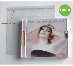 TEC - Bustine in PP pe CD con Jewel Case - Flap Adesivo (Qtà. 100)