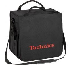 TECHNICS - Borsa imbottita Colore Nero logo Rosso - Contiene 45/60 LP (Q.ta1)