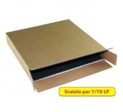 MUSIC MAT - Scatola di Cartone KRAFT per spedizione 1/10 dischi LP (Qtà.10 Scatole)