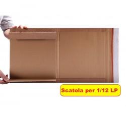 MUSIC MAT - Scatola di Cartone KRAFT per spedizione dei  dischi Vinile - 1/10 LP (Qtà.10)
