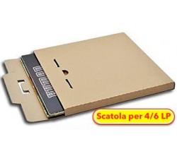 """MUSIC MAT - Scatola di cartone  """"KRAFT"""" per spedire dischi vinili LP - 4/6 LP  (Qtà.10)"""