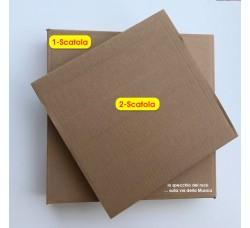 MUSIC MAT - Scatole di Cartone (DUE SCATOLE) spedizione 1/6 dischi 78 Giri (Qtà. Scatole)