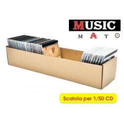 MUSIC MAT - Scatola Contenitore economico per 50 CD  (Qtà.10)