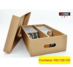 MUSIC MAT - Scatola Contenitore con coperchio per 100/120 CD  (Qtà.1)