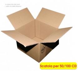 MUSIC-MAT - Scatola per spedire o archiviare 100 CD (Conf.10 scatole)
