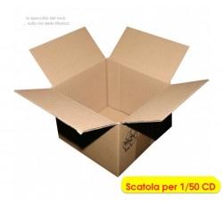 MUSIC-MAT - Scatola per spedire o archiviare 50 CD (Qtà.10 scatole)