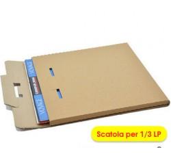 Scatola di Cartone per la spedizione dei DISCHI VINILI - 1/ 3 LP  (Conf.10 pezzi)