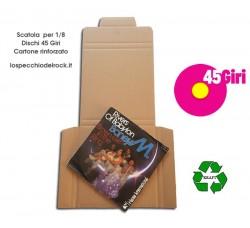 MUSIC MAT - Scatola cartone Kraft -  Contiene 1/8 dischi Vinili  45 Giri  (Conf.10 scatole)