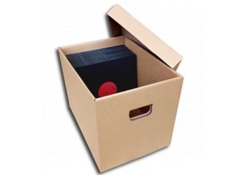 MUSIC MAT - Scatola Contenitore di Cartone per 150 /200 dischi Vinile 78 Giri.