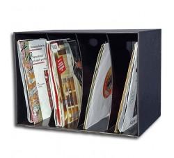 """""""KNOSTI - Box Deluxe per 80 dischi 45 giri Colore NERO (Q.ta 1 Pezzo)"""