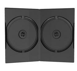 Custodia slim 7mm per 2 CD / DVD colore nero  (Conf. 10 pezzi)