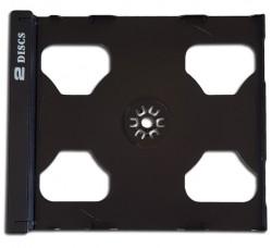 Vassoio colore NERO 2 CD - per ricambio custodie Jewel Case (Conf. 10 Pezzi)