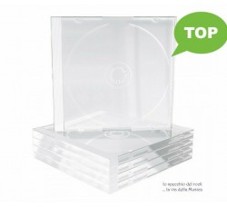 Custodie JEWEL CASE standard per 1 CD - SENZA VASSOIO (Conf. 10 pezzi)