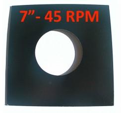 """Copertina per dischi 45 RPM 7"""" Pollici colore NERO ´Conf. 10 pezzi)"""