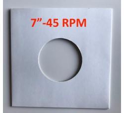 """Copertina per dischi 45 RPM 7"""" Pollici colore BIANCO  (Conf.10 pezzi)"""