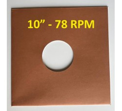 "Copertina colore AVANA per dischi vinili 10"" RPM 78 giri (Conf. 10 pezzi)"