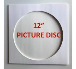 Copertina per Vinili Picture disc - Colore Bianco  (Conf. 10 pezzi)