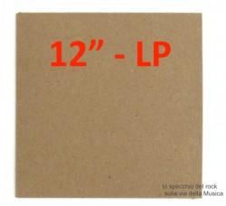 """Copertina per LP /12"""" Colore MARRONE- senza FORO (Conf. 10 Pezzi)"""