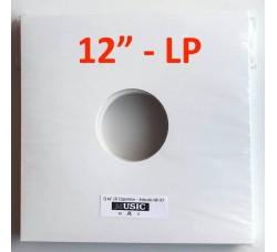 """Copertina per LP-12""""  colore bianca con due fori (conf. 10 pezzi)"""