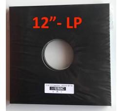 """Copertina per LP-12"""" colore nera con due fori (conf. 10 pezzi)"""