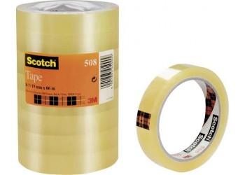Scotch Nastro Adesivo 3M, Trasparente Acrilico, 19 mm x 66 m - Q.ta  8 Pezzi