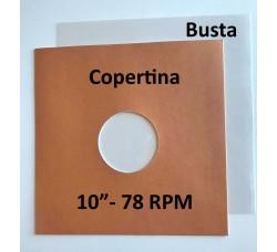 Set: Copertina colore Avana + Busta PP per Vinile dischi 78 Giri  (Conf.20+20)