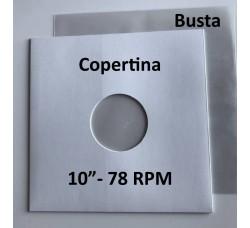 Copertina BIANCA + Busta PE per Vinile dischi 78 Giri (Conf.20+20)