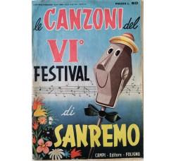 Spartito Musicale -  Canzoni VI Festival di Sanremo