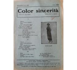 Spartito Musicale -  Color sincertità
