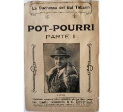 Spartito Musicale -  La Duchessa del Bar Tabarin   Pot-Pourri (parte II)