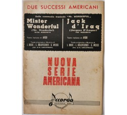 Spartito Musicale -  Mister Wonderful - Jack d'Iraq