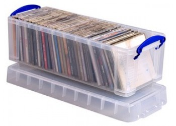 REALLY USEFUL - Contenitore  per 50 DVD o 25 WHS