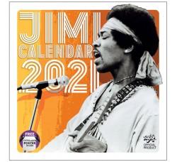 Calendario JIMI HENDRIX (2021) Licenza Ufficiale da collezione - Contiene POSTER