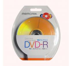 DVD-R Vergini  MEMOREX DVD-R 16X 4,7 120 mm