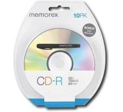 MEMOREX - 10 PK CD-R 52X -700 MB/Mo - 80min  + Pennarello Omaggio