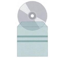 Bustine per CD / Dvd Trasparenti con strisce Biadesivi – Qtà 25 -