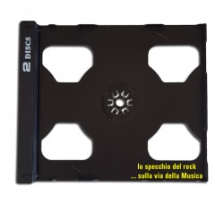 Vassoio TRAY NERO per 2 CD - Ricambio Custodia JEWEL CASE - Q.ta 10
