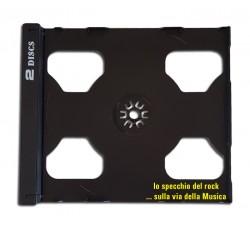 Vassoio TRAY NERO per 2 CD - Ricambio Custodia JEWEL CASE - Q.ta 10