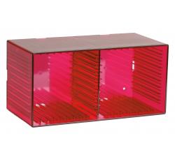 KNOSTI - CD BOX  da tavolo o da parete - Contiene 18 CD - Colore ROSSO
