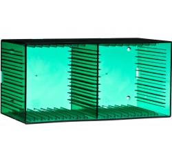 KNOSTI - CD BOX  da tavolo o da parete - Contiene 18 CD - Colore VERDE