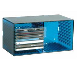 KNOSTI - CD BOX  da tavolo o da parete - Contiene 18 CD - Colore AZZURRO