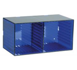 KNOSTI - CD BOX da tavolo o da parete - Contiene 18 CD - Colore BLU