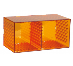 KNOSTI - CD BOX da tavolo o da parete - Contiene 18 CD - Colore ARANCIONE