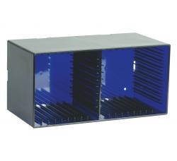 KNOSTI - CD BOX da tavolo o da parete - Contiene 18 CD - Colore INDACO