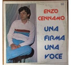 ENZO CENNAMO - Una firma una voce - LP/Vinile